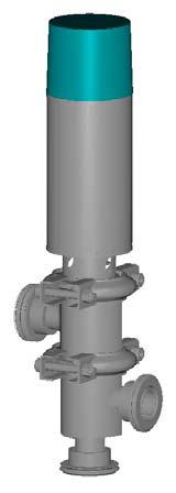 Клапан запорный, исполнение 00, 06, с пневмоприводом