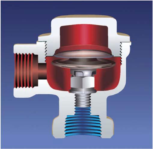 Термостатический латунный угловой конденсатоотводчик STK 11
